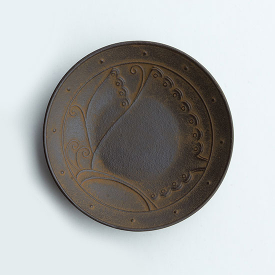 "Small plate ""Circle butterfly"""